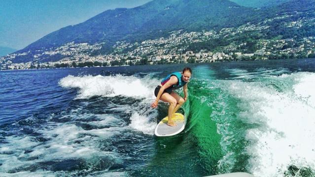 Wakesurfen auf dem Lago Maggiore